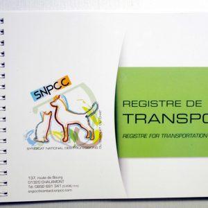 REGISTRE DE TRANSPORT ET DE NETTOYAGE DÉSINFECTION