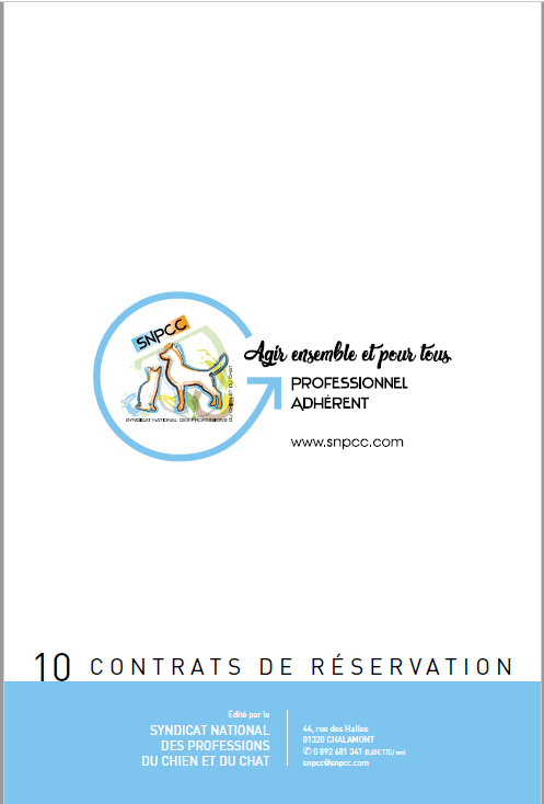Contrat de réservation en liasse de 10