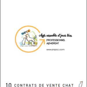 CONTRATS DE VENTE par liasse de 10 – Chat