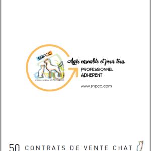 Carnet de CONTRATS DE VENTE par liasse de 50 – Chat