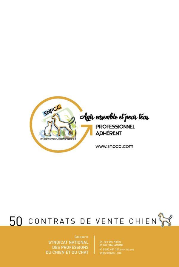 Contrat de vente chien en liasse