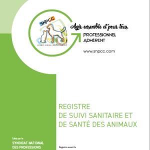REGISTRE SUIVI SANITAIRE et DE SANTÉ des ANIMAUX