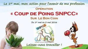 """Opération """"Coup de poing SNPCC"""" du 01 au 08 mai, sur le site LE BON COIN"""