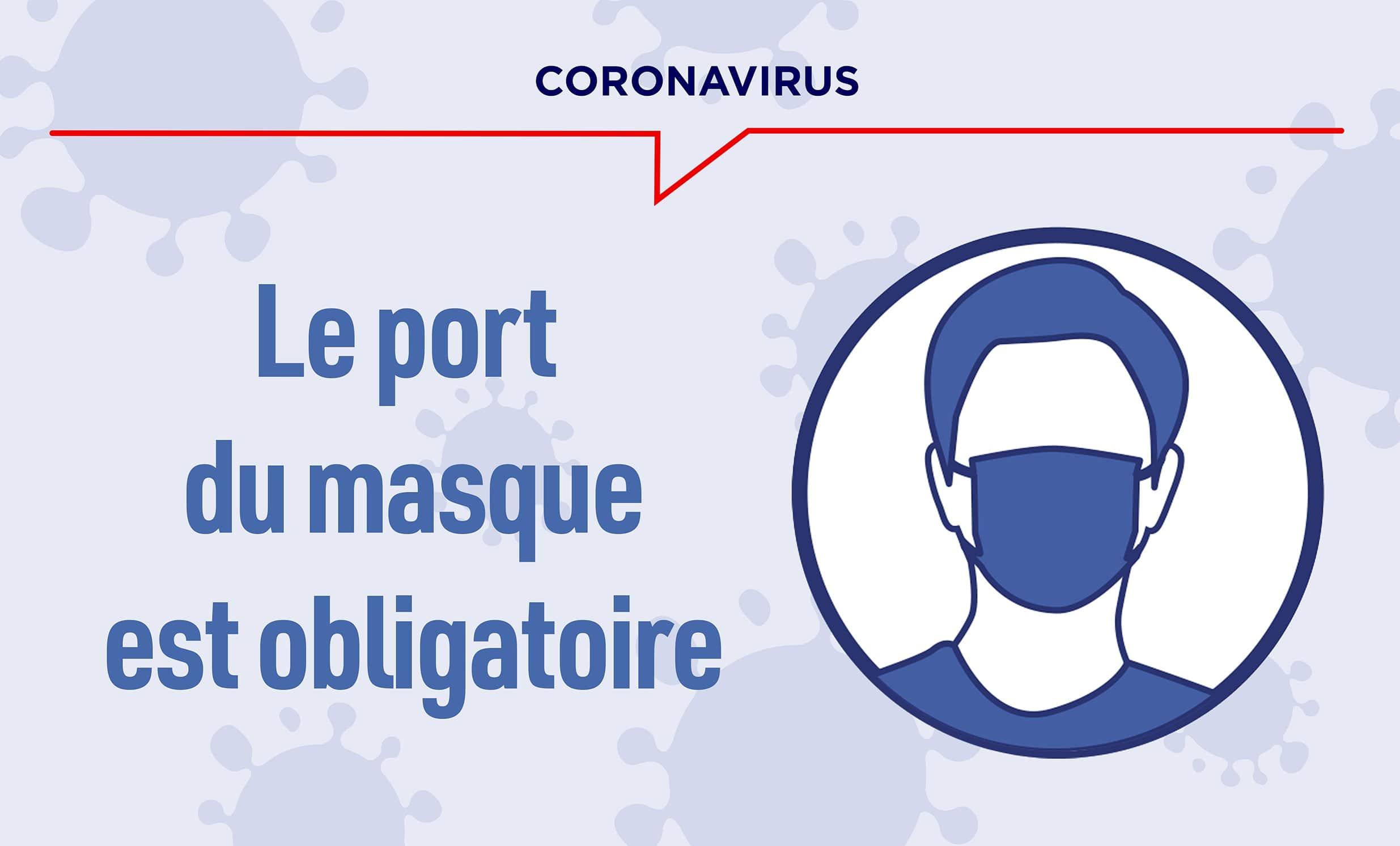 Covid-19 : port du masque obligatoire à compter du 20 juillet 2020